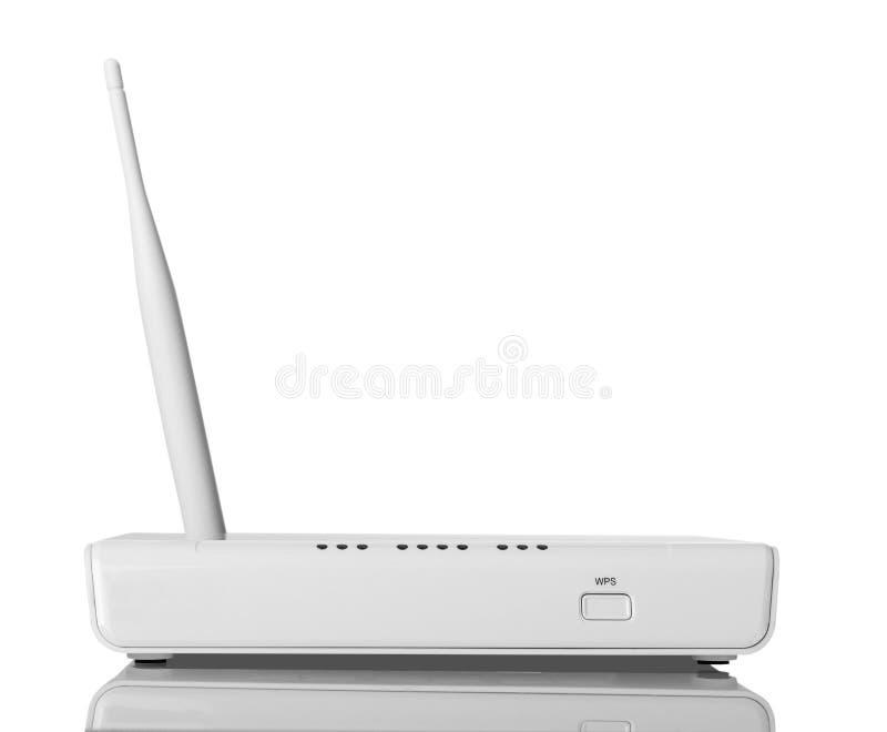 Fi router z WPS funkcją, odosobnioną na bielu zdjęcia royalty free