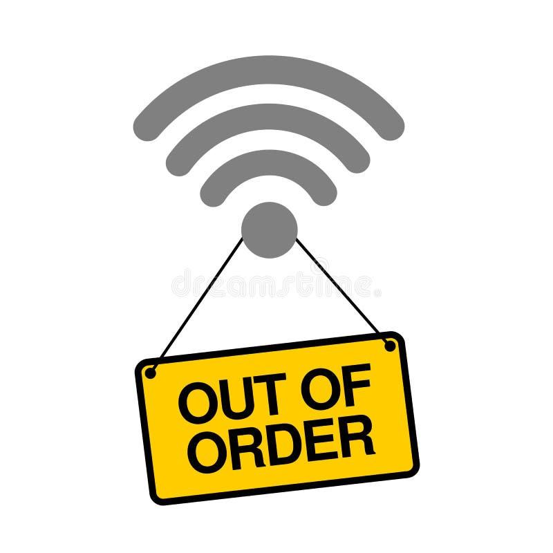 Fi sygnał i internet jesteśmy z rozkazu ilustracja wektor