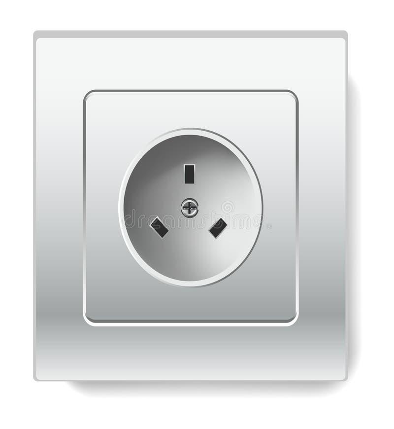 Fiação e eletricidade elétricas isoladas soquete da casa do artigo ilustração royalty free