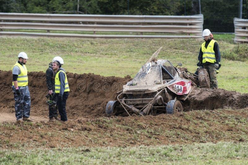FIA European Autocross Championship et HACHE italienne de championnat images stock