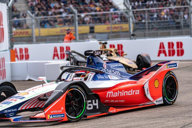 FIA Formel E-prix-tävlingsmästerskap i racerbangård arkivfoto