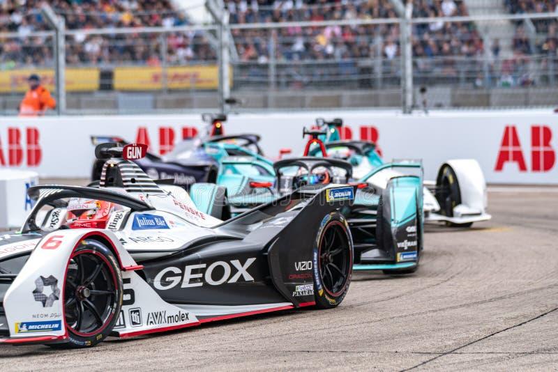 FIA Formel E-prix-tävlingsmästerskap i racerbangård royaltyfria foton