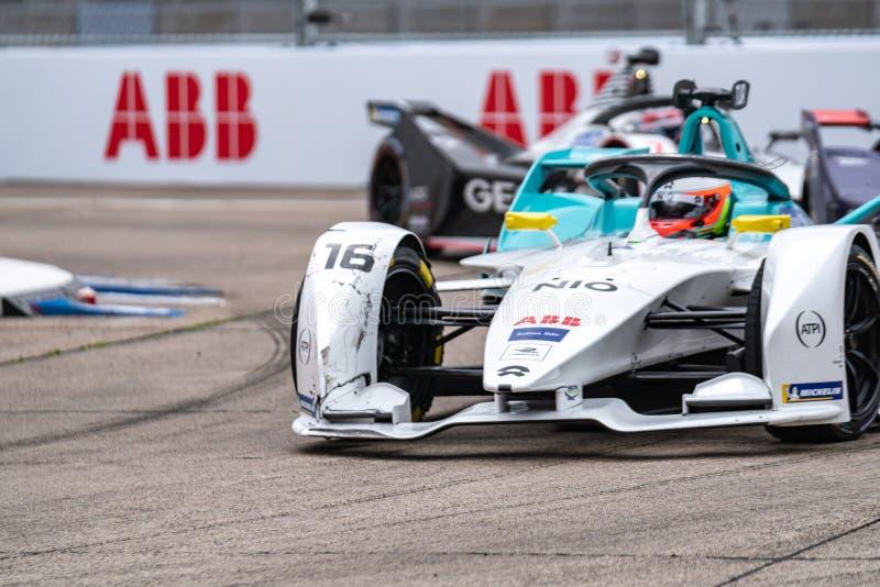 FIA Formel E-prix-tävlingsmästerskap i racerbangård arkivfoton