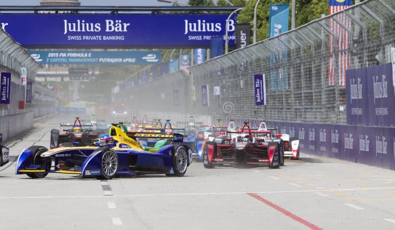 FIA Formula E raceday Putrajaya, Malaysia royaltyfri foto