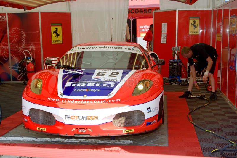 FIA GT race royaltyfri bild