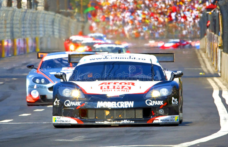 FIA GT race arkivbilder