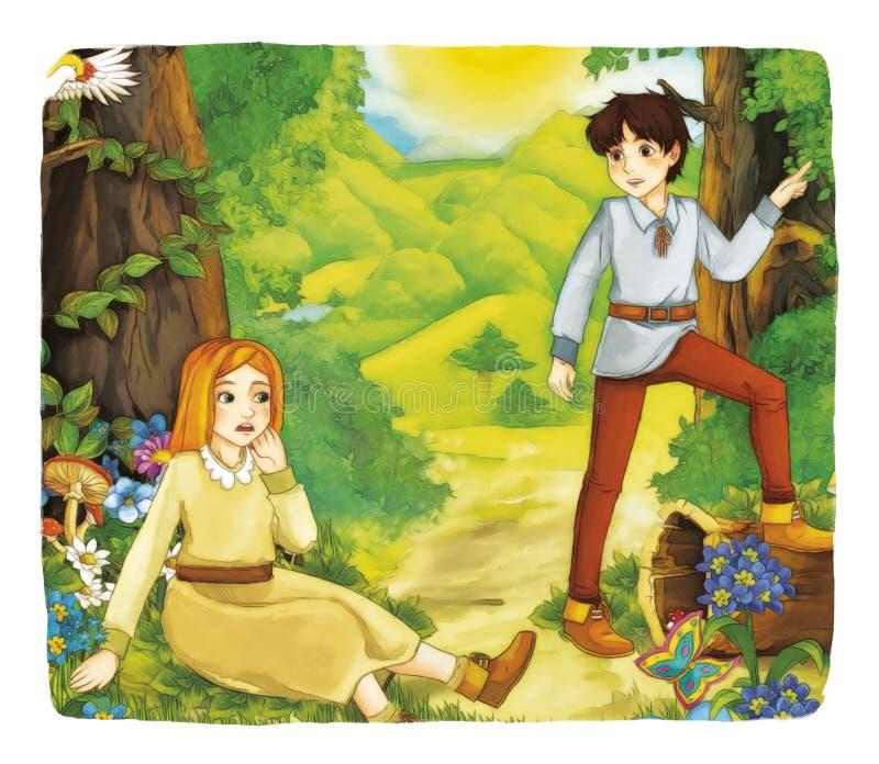 Fiaba del fumetto - illustrazione per i bambini illustrazione vettoriale
