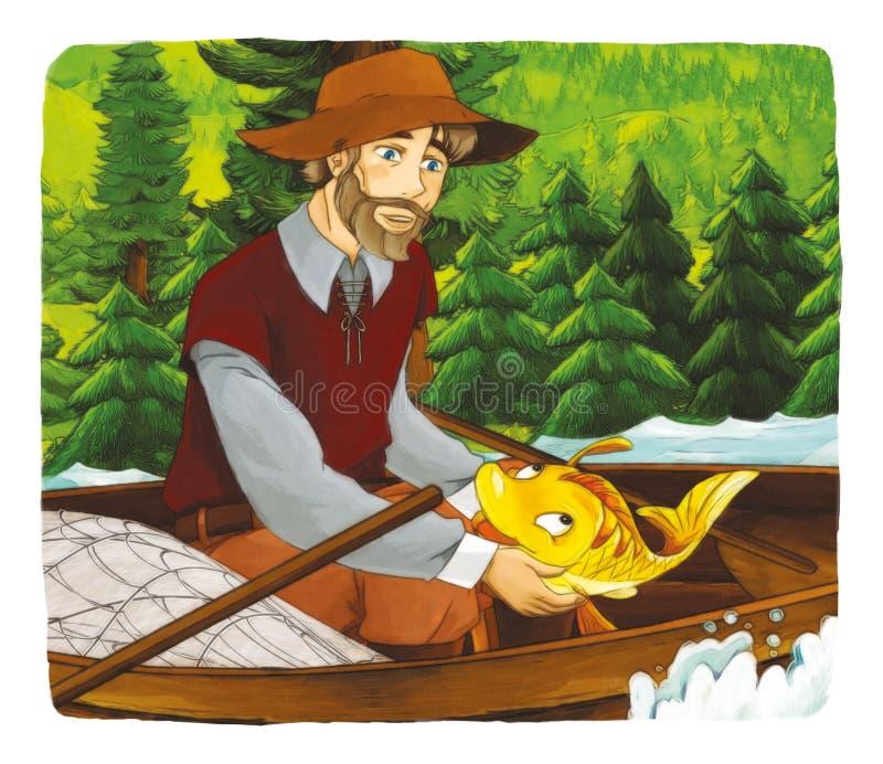 Fiaba del fumetto - illustrazione per i bambini royalty illustrazione gratis