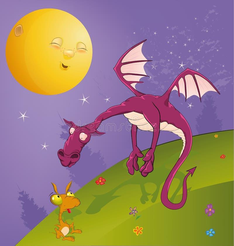 Fiaba sui draghi illustrazione di stock