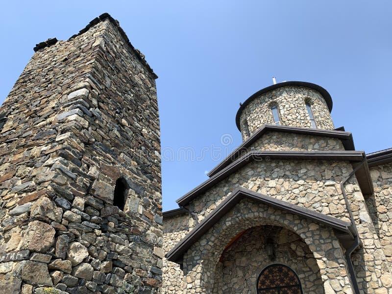 Fiagdon, Rússia, Ossetia norte Monastério do dormition de Alan, catedral do ícone ibérico de Mozdok da mãe do deus fotografia de stock royalty free