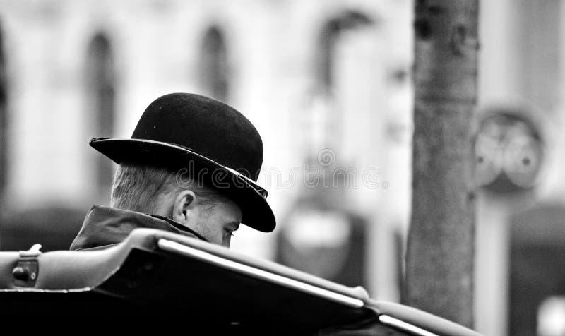 Fiaker-Fahrer Wien stockfotos
