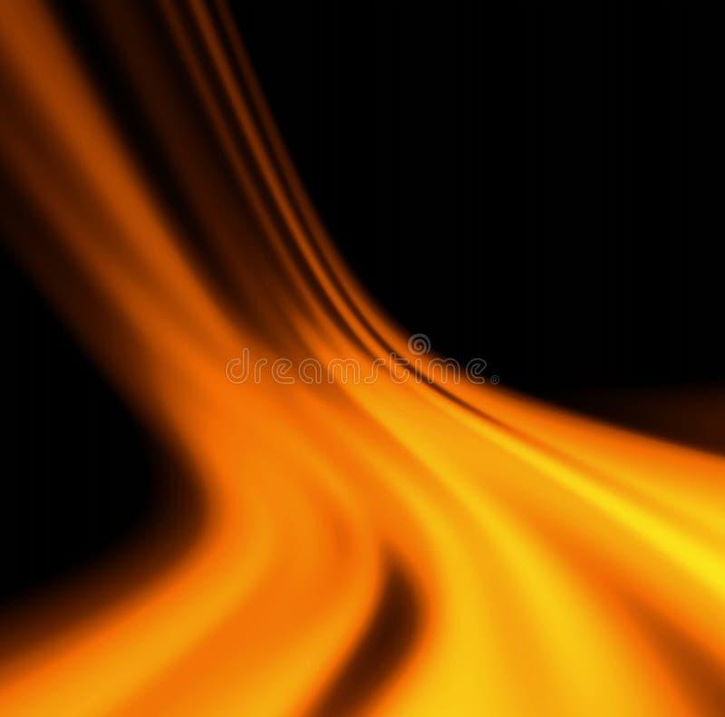 Fiamma arancione illustrazione di stock