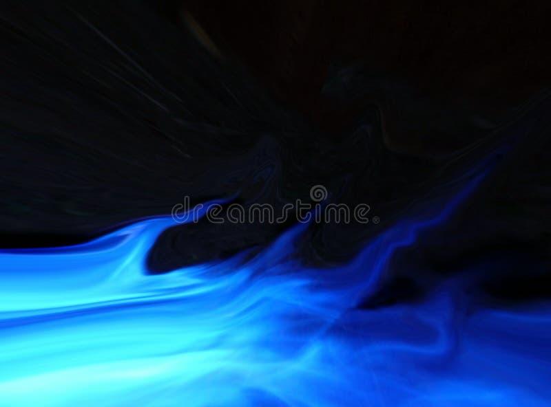 Fiamma blu illustrazione vettoriale