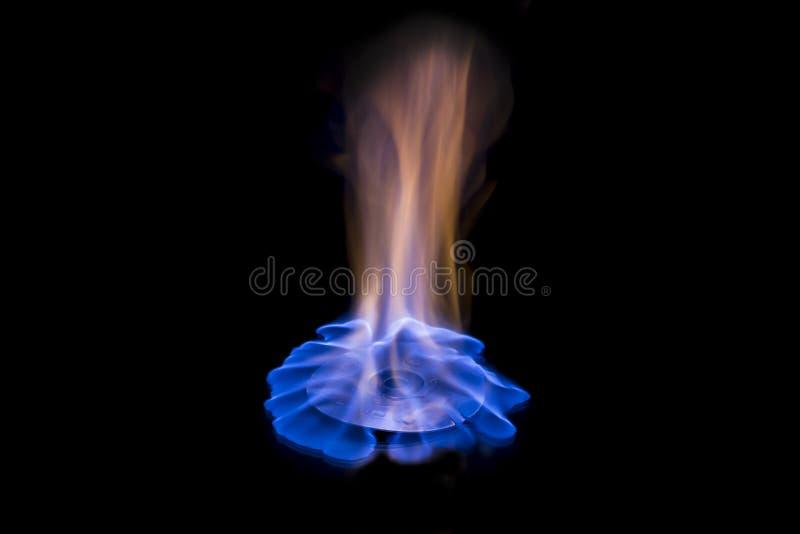 Fiamma blu del CD bruciante fotografia stock libera da diritti