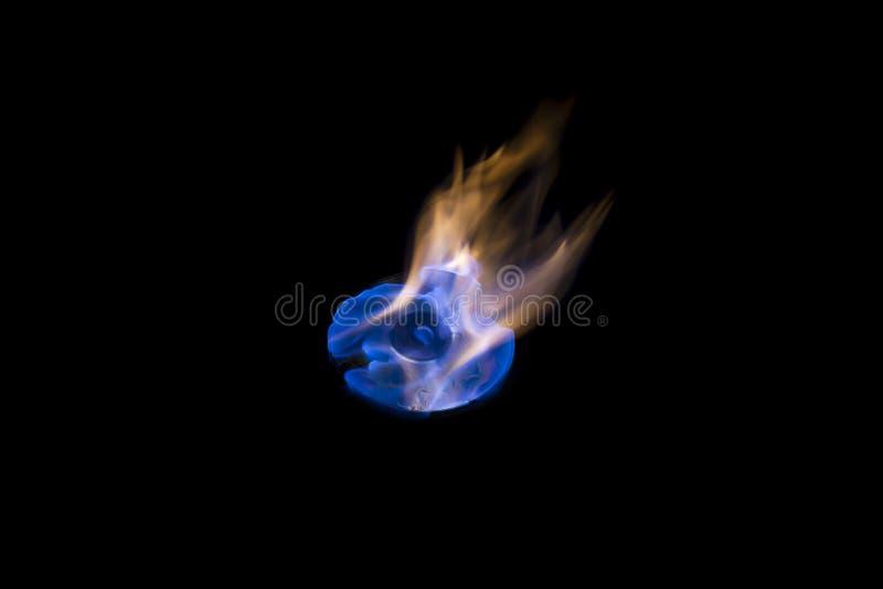 Fiamma blu del CD bruciante immagine stock