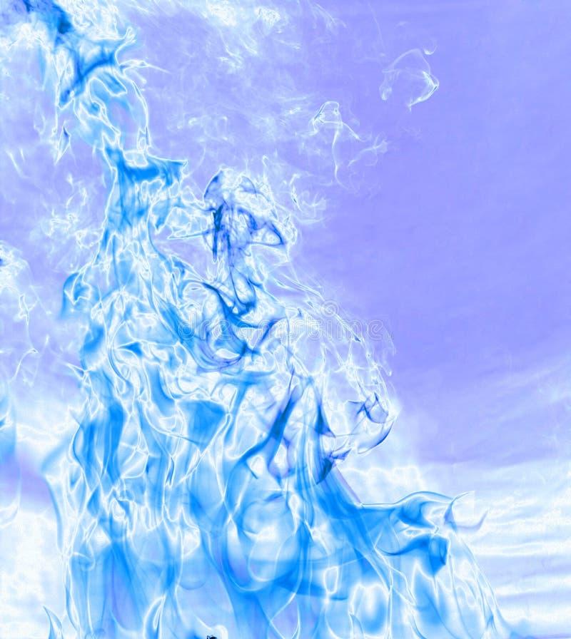 Fiamma blu fredda fotografie stock libere da diritti