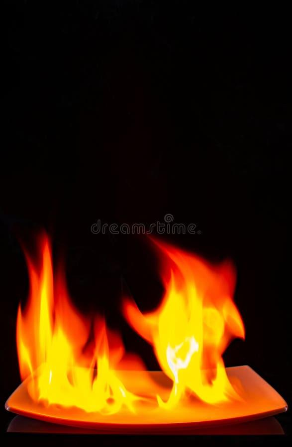 Fiamma Burning fotografia stock