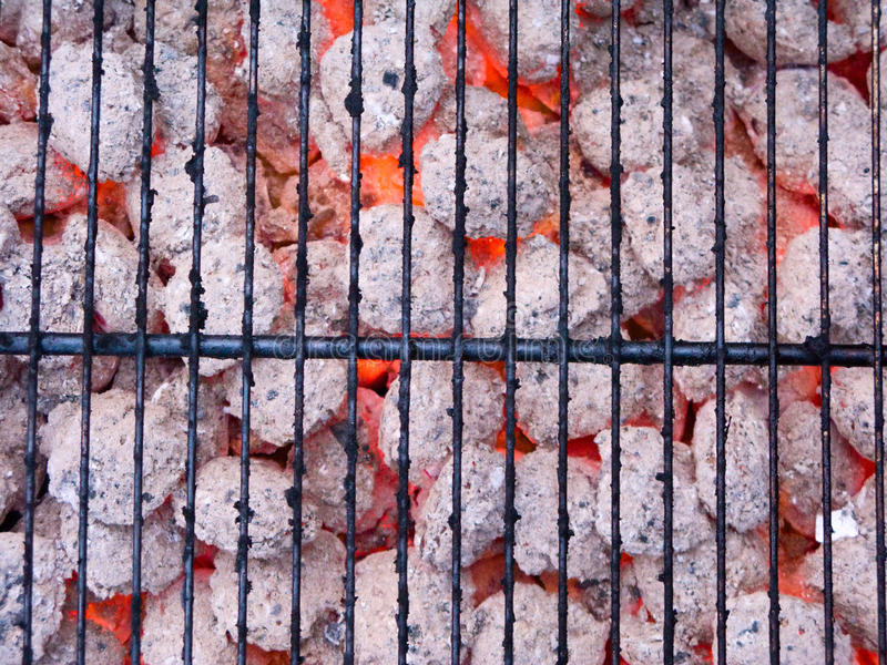 fiamma del carbone fotografia stock