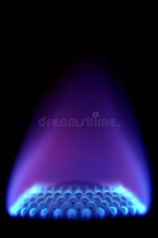 Fiamma del gas immagine stock