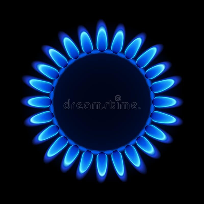 Fiamma del gas naturale. Vettore. illustrazione di stock