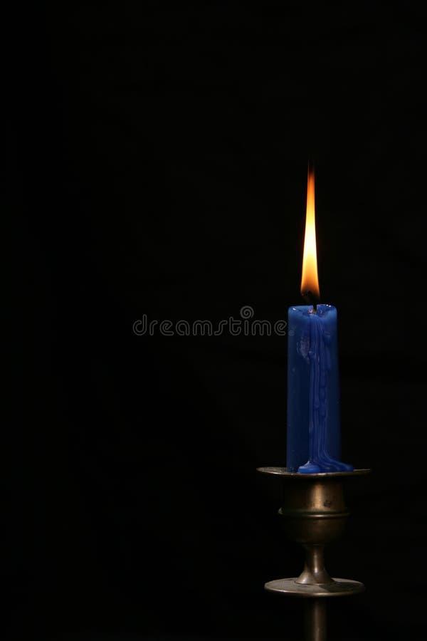 Fiamma della candela fotografia stock