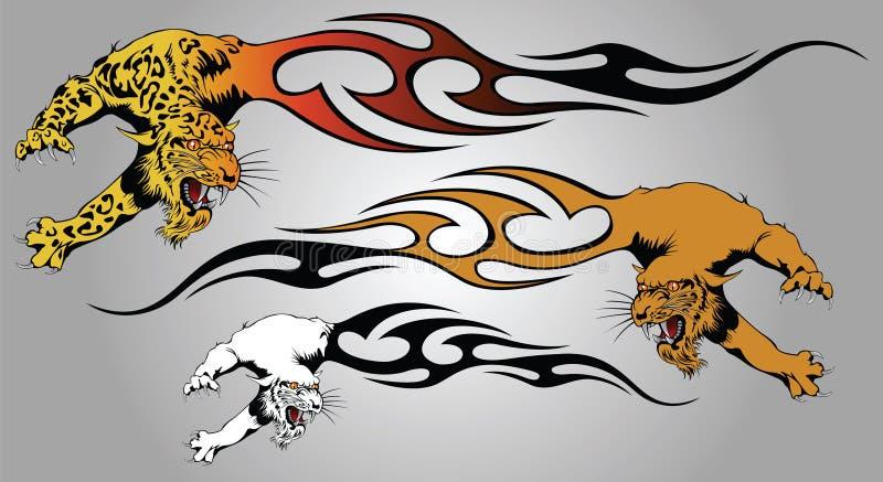 Fiamma della pantera royalty illustrazione gratis