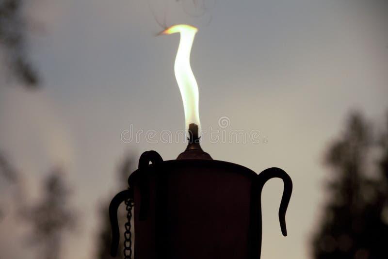 Fiamma della torcia della candela immagini stock libere da diritti