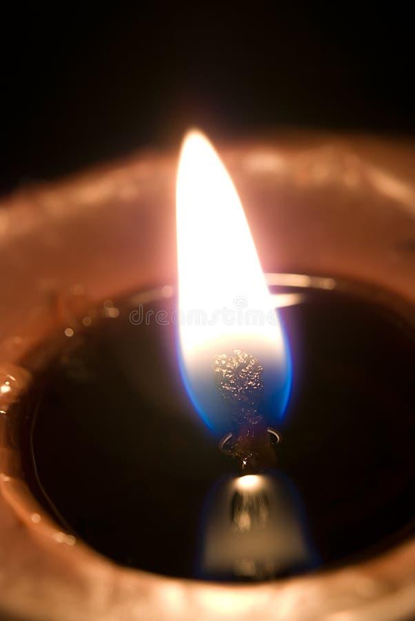 Fiamma di candela fotografia stock