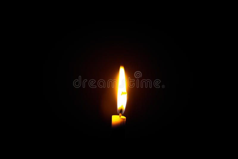 Fiamma di candela fotografie stock libere da diritti