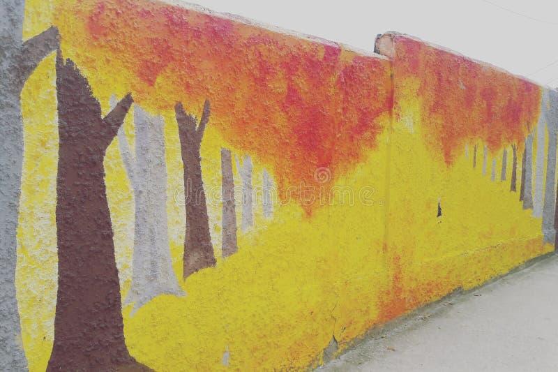 Fiamma Forest Wall Mural fotografia stock libera da diritti