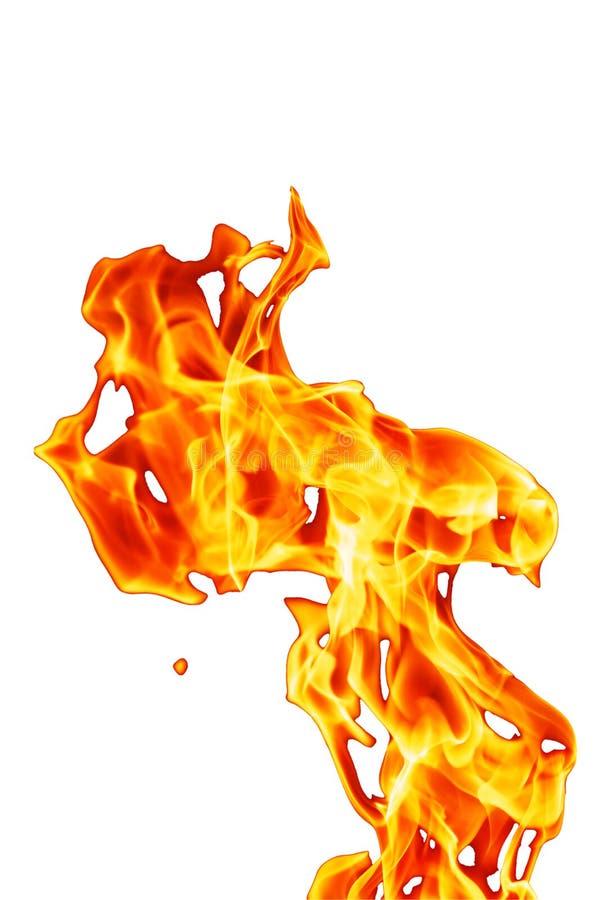 Fiamma verticale arancio del fuoco illustrazione vettoriale