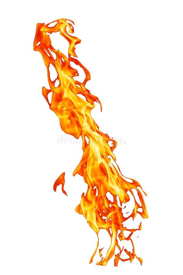 Fiamma verticale arancio del fuoco royalty illustrazione gratis