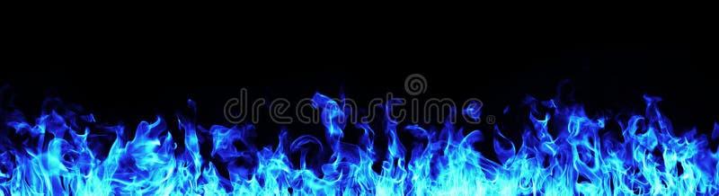 Fiamme blu del fuoco fotografie stock libere da diritti