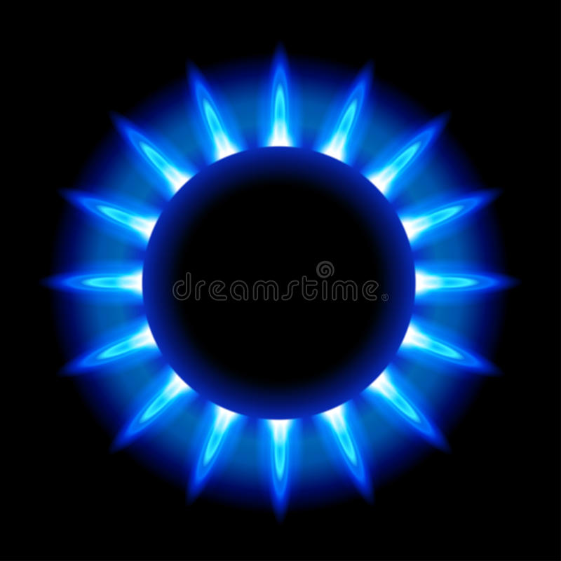Fiamme blu di un gas naturale burning royalty illustrazione gratis