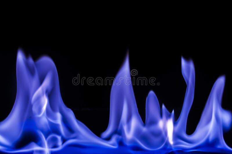 Fiamme blu, fuoco immagini stock