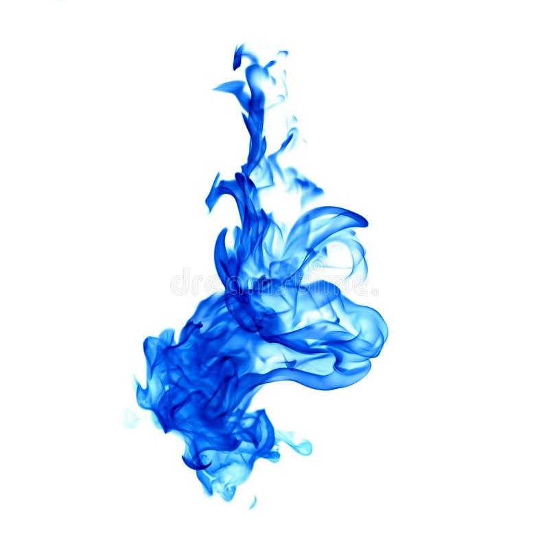 Fiamme blu isolate su fondo bianco fotografia stock