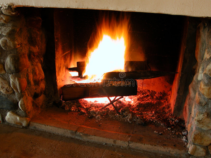 Fiamme Burning 2 fotografia stock