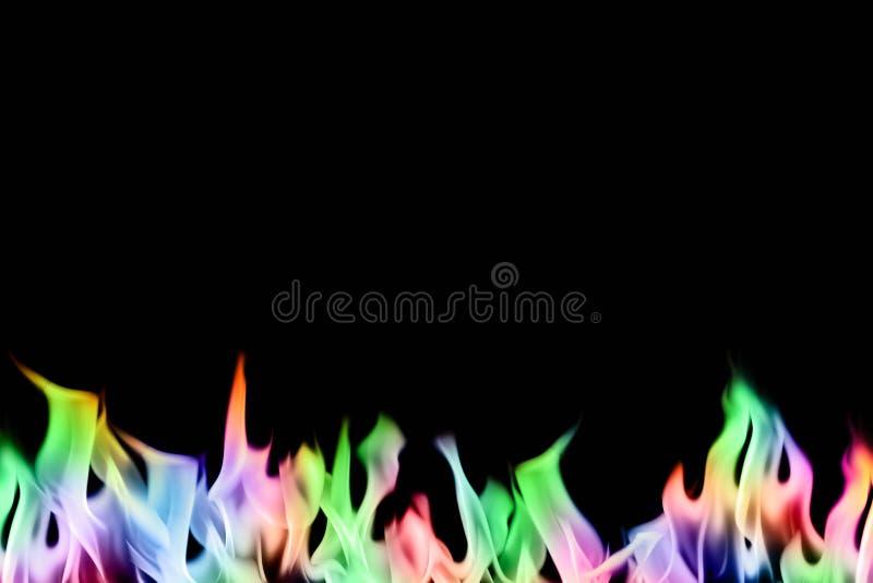 Fiamme del fuoco impostate fotografie stock