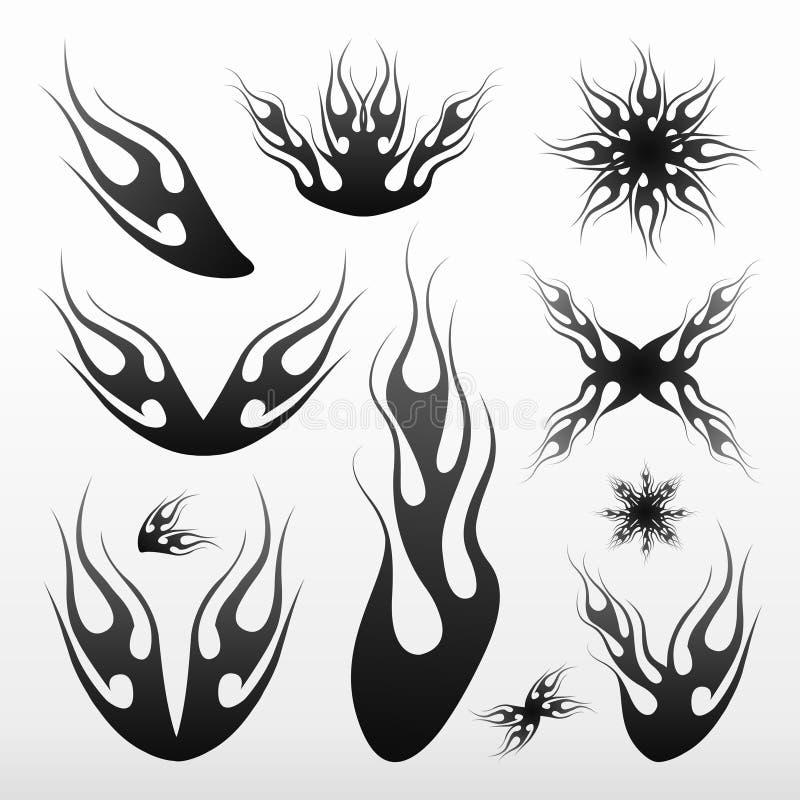 Fiammeggia tribale/tatoo royalty illustrazione gratis