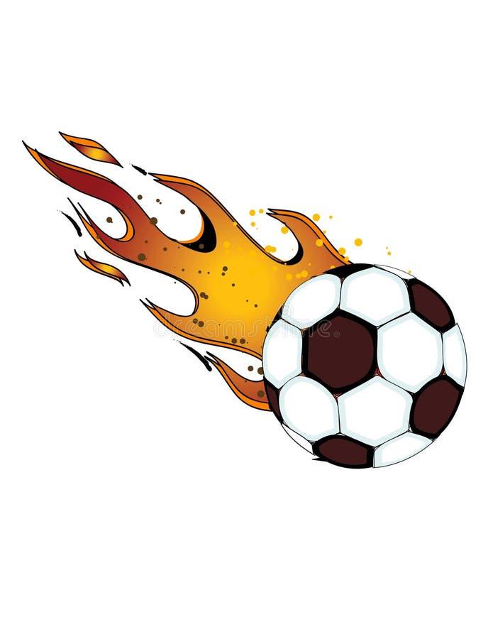 Fiammeggiare Soccerball/gioco del calcio! vettore eps8 illustrazione vettoriale