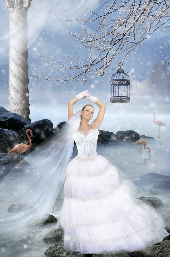 Fiancée de conte de fées photos stock
