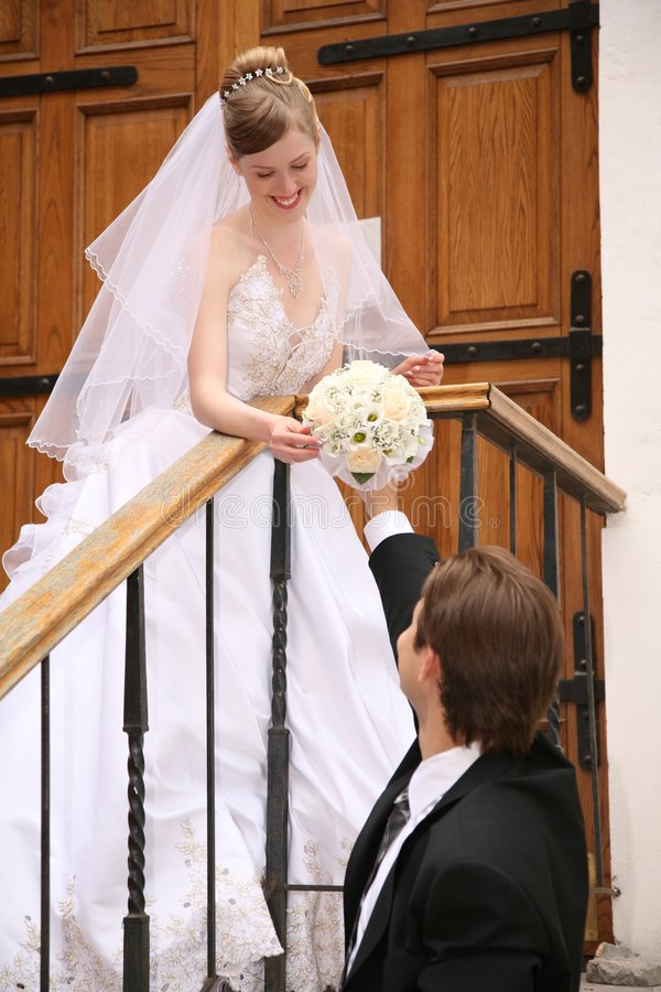 Fiance and the bride royalty free stock photo