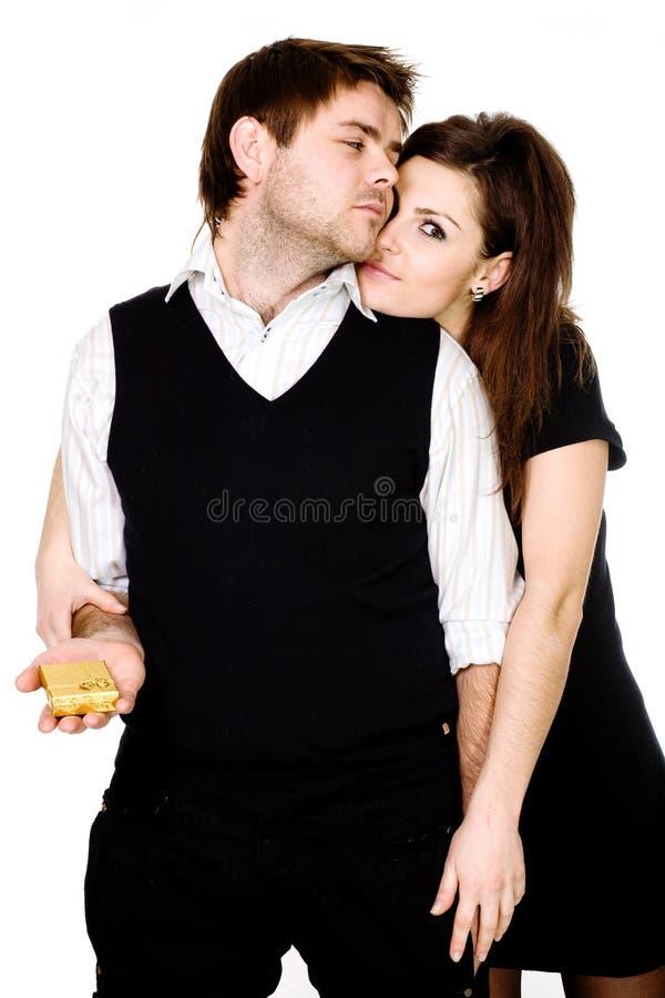 Fiance en fiance royalty-vrije stock afbeelding