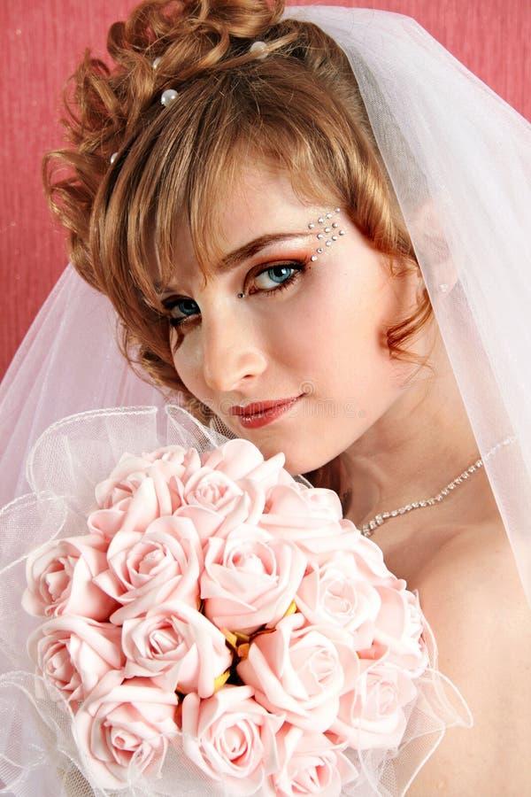 Fiancebröllop royaltyfri fotografi