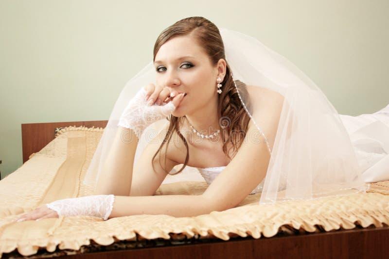Fiancebröllop fotografering för bildbyråer