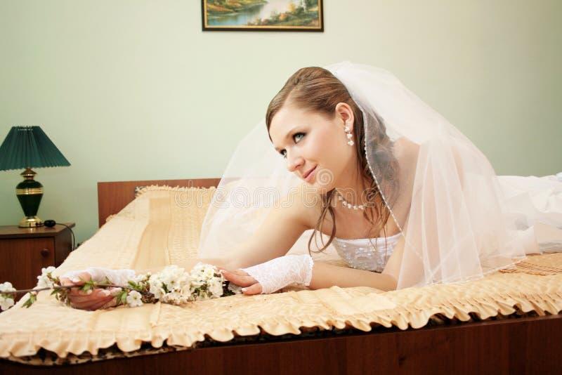 Fiancebröllop royaltyfri bild