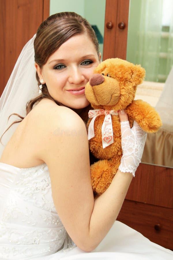 Fiancebröllop arkivfoto