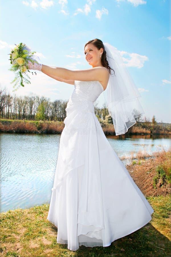 Fiancebröllop arkivbilder