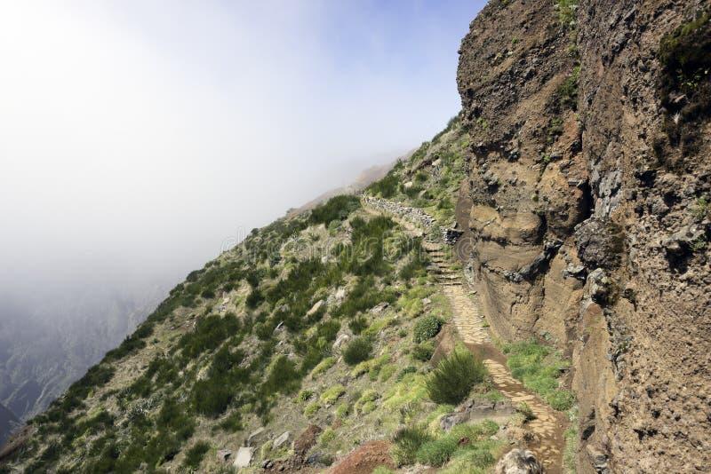 Fianchi verdi del arieiro di pico sull'isola della Madera fotografia stock