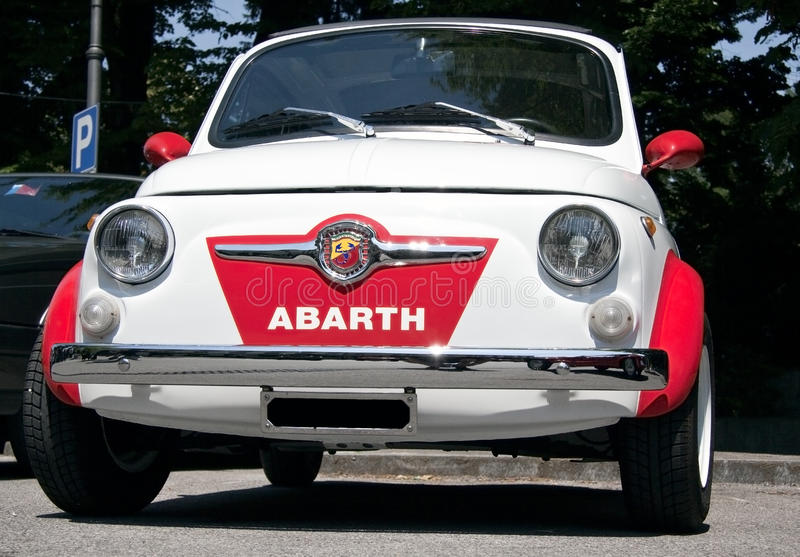 Fiat 500 abarth στοκ εικόνες